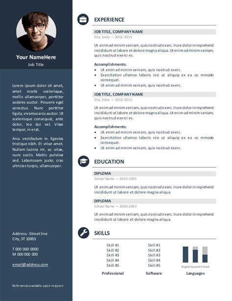 Exemple De Cv Word by Doc Un Exemple De Mod 232 Le De Cv 2017 Gratuit Word
