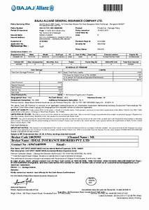 Bajaj Allianz Health Insurance Premium Receipt Insurance