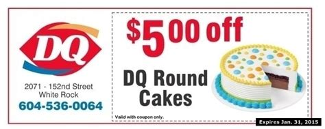 dq cakes    dairy queen restaurant coupons