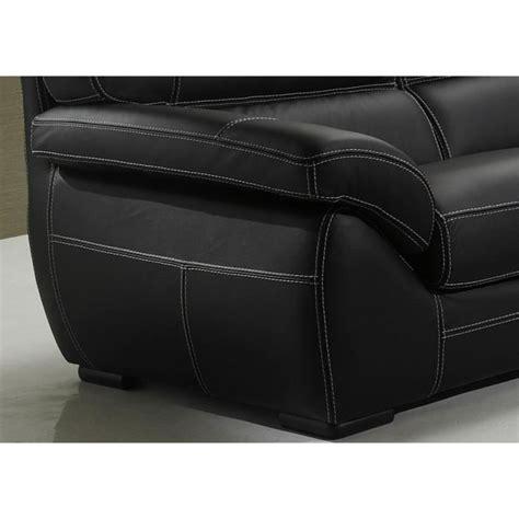 canape cuir 3 2 canapé cuir siena 2 et ou 3 places cuir noir achat