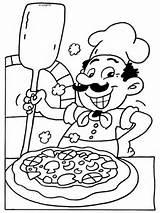 Pizza Coloring Pages Kleurplaten Kleurplaat Nl Italian Cute Preschool Maker Van Restaurant Eten Pizzaria Chef Voeding Dibujos Para Colorear Dibujo sketch template