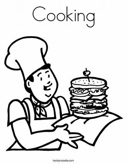 Coloring Cooking Cook Ll
