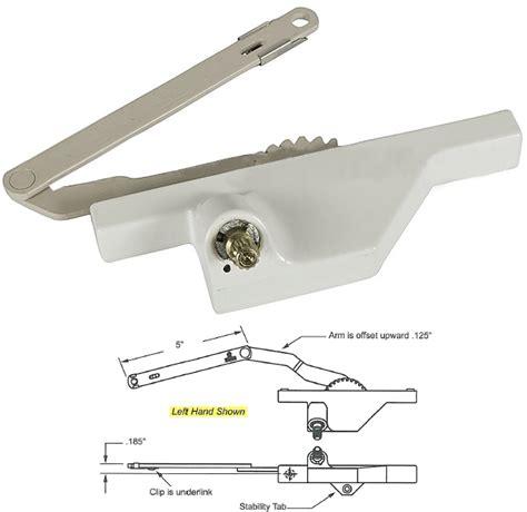 truth hardware dyad casement window operator  offset arm