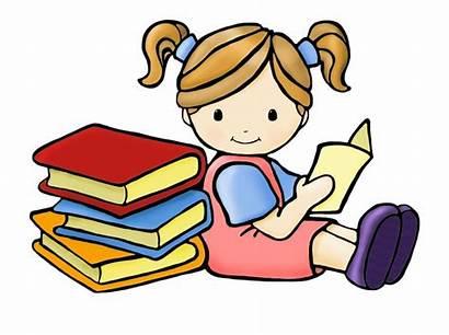Reading Clipart Children Coloring Teacher Transparent Kartun