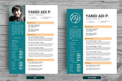 flat trendy resumes cv resume templates on creative market