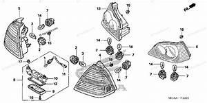 Honda Motorcycle 2008 Oem Parts Diagram For Rear Combination Light  Gl1800 U0026 39 06