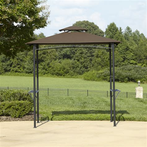 grill gazebo canopy bbq pro grill gazebo with folding shelves and fabric