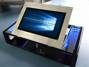 Table Basse Tablette Relevable : table basse tactile motoris tm3 0 seedertech ~ Teatrodelosmanantiales.com Idées de Décoration