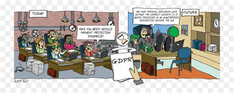 Comics General Data Protection Regulation Cartoon