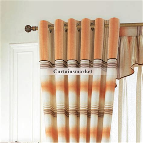 2014 timeless striped orange ready made curtains