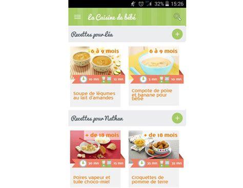 cuisine bébé la nouvelle application mobile la cuisine de bébé