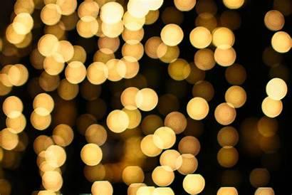 Dim Bokeh Lights Gold Business Christmas Night