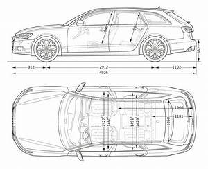 2012 Audi A6 Avant Side And Top Dimensions