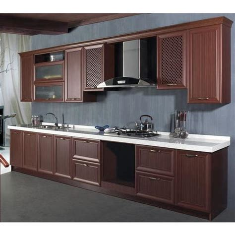 brown classical pvc kitchen cabinets rs  square feet
