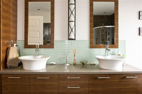 Contemporary Bathroom Backsplash Ideas 20 eye catching bathroom backsplash ideas