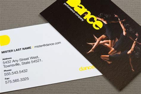 dance company business card dance company business card