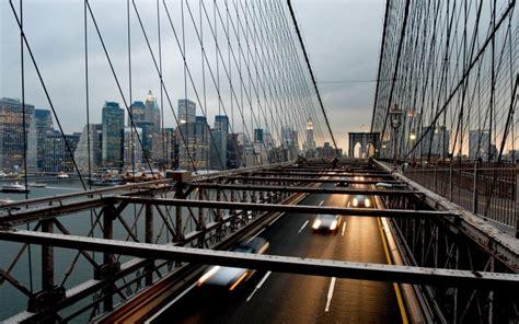 city urban bridge  york city motion blur cityscape