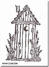 Drawings Outhouse Outhouses Pallet Template Primitive Burning Clip Found Patterns Silhouette Coloring Sketch Jldr Houses Pyrography Bathroom Scrapbooking Tole sketch template