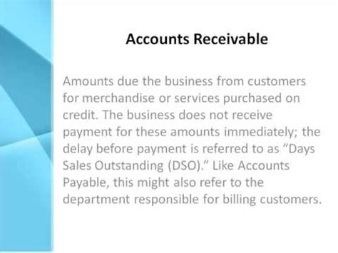 trade account receivable definition