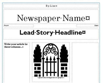 newspaper template publisher printable newspaper templates from sparklebox
