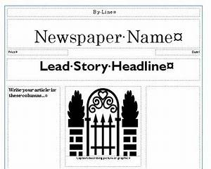 create your own newspaper template - newspaper template creating newspapers in the