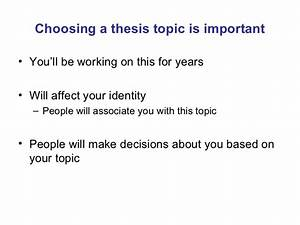 choosing a dissertation topic