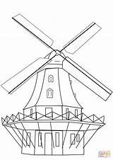 Coloring Pages Windmill Mill Drawing Dutch Smock Printable Windmills Crafts Paper Getdrawings Puzzle Categories sketch template
