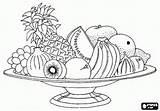 Coloring Basket Fruit Pantry Printable sketch template