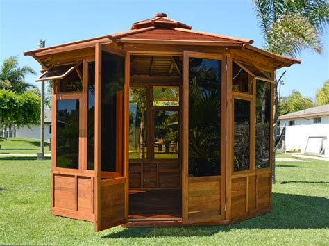 Gazebo : Sunroom Wood Gazebo Kit For Sale
