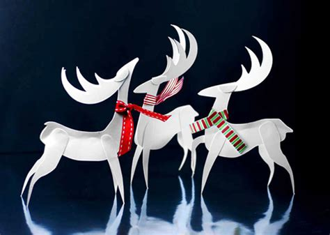 reideer and father christmas template for windows paper reindeer christmas ornament