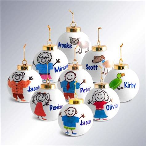 personalized stick family christmas ornaments neat stuff