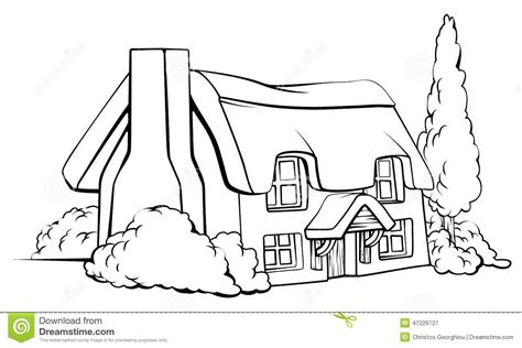 farm house cottage stock vector illustration  image