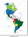 Free art print of North and South America map. Highly ...