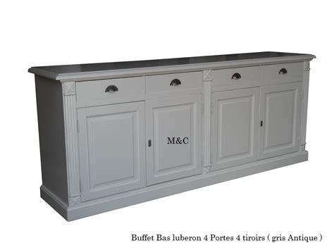 meuble bas de cuisine blanc buffet bois massif 4 portes 4 tiroirs