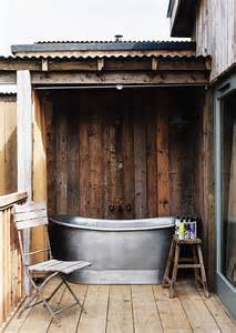 Galvanized Horse Trough Bathtub by 7 Outdoor Bathtubs To Inspire Your Dream Home Mydomaine