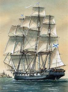 Russian Frigate 'The Hopes' circa 1810. She is surely a ...