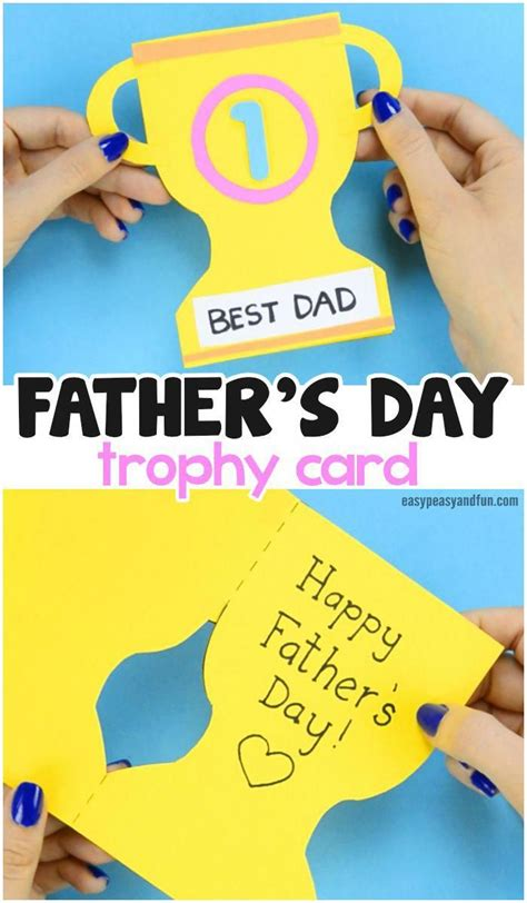 fathers day trophy card  printable trophy template