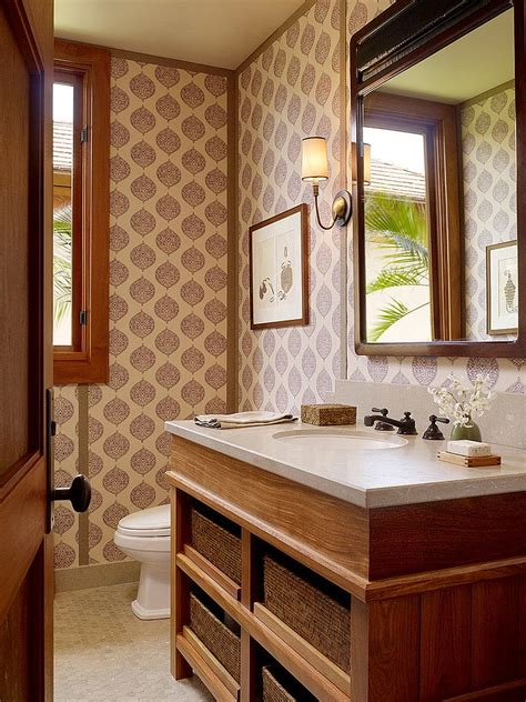 hot summer trend  dashing powder rooms  tropical flair