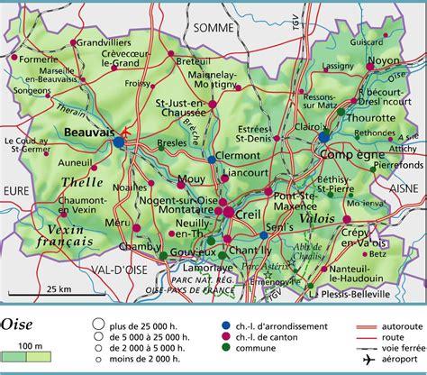 cours de cuisine oise carte de l 39 oise oise carte du département 60 villes