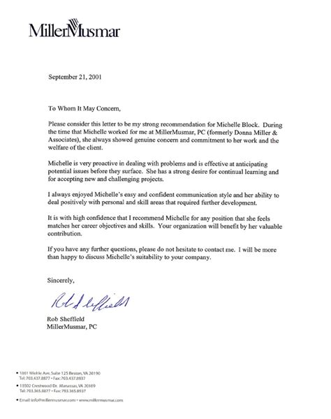 professional letter of recommendation professional recommendation letter from employer 8963