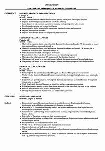Product Sales Manager Resume Samples