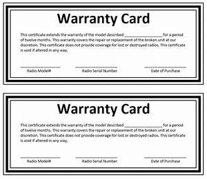 Image gallery sample warranty for Warranty template word