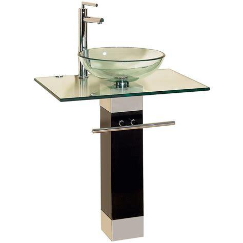 Glass Bathroom Sinks And Vanities by 23 Bathroom Vanities Tempered Glass Vessel Sinks Combo