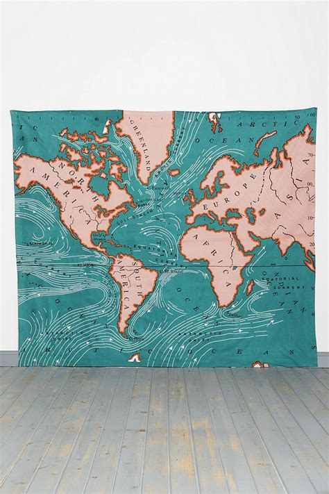 Outfitters Tapestry Map by Kaleidoscope Patchwork Quilt The End Urban Outfitters