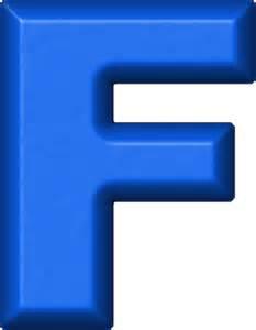Blue Refrigerator Magnet Letters F