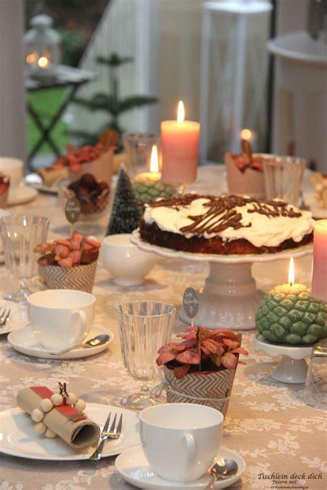 Apricot Tischdeko Weihnachten Vintage  Tischlein Deck Dich