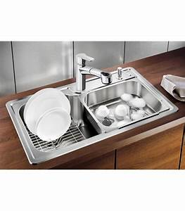 Lavello rettangolare da cucina acciaio inox blanco plenta for Accessori lavello cucina