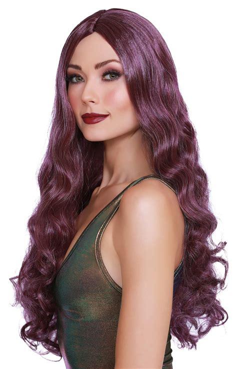 DG-11719MLT Long Wavy Wig - Purple Honey's Place
