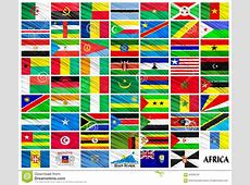 Flags Of African Countries In Alphabetical Order Stock