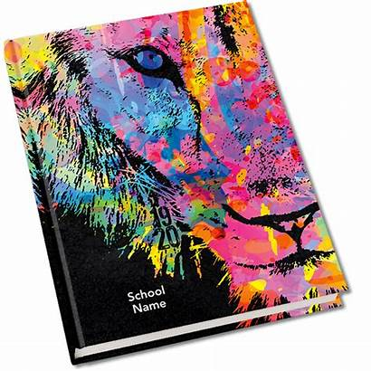 Yearbook Covers Lion Mascot Elementary Themes Neon